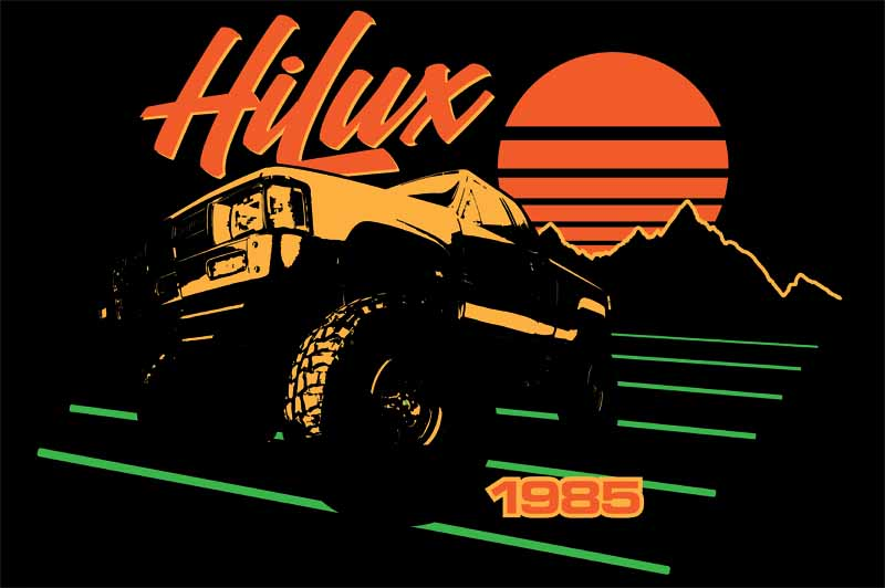 Toyota Hilux Retro Sunset 1985
